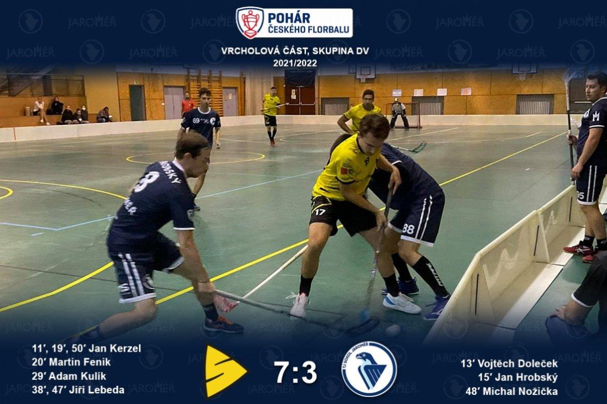 I přes porážku v Kunraticích postupujeme do osmifinále Poháru!